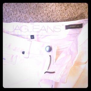 Crisp White JAG Jeans Straight Leg Size 6